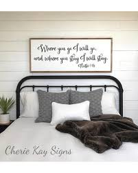 Master bedroom wall decor Dream Shopping Special Bedroom Sign Where You Go Will Go Master Bedroom Decor Wall Decor Bedroom Wall Art Wood Framed Signs Ruth 116 Better Homes And Gardens Shopping Special Bedroom Sign Where You Go Will Go Master Bedroom