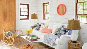 Rooms with white furniture Gray Inside Cypress Walls And Reclaimed Heart Pine Floors Anchor The Rooms And New Doors Furniture 123 48 Beautiful Beachy Living Rooms Coastal Living