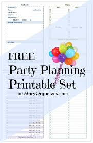 Party Planning Lists Party Planning Printable Set Creatingmaryshome Com