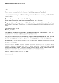 Best Photos Of Job Interview Invitation Letter Sample Interview