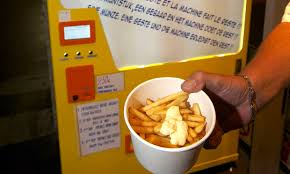 Hot Chip Vending Machine Locations Extraordinary World's First Vending Machine To Make Hot Belgian Frites