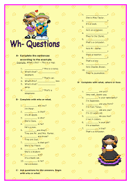 Questions Elementary Worksheet