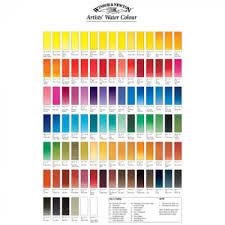 color chart winsor newton professional watercolor hand painted color chart