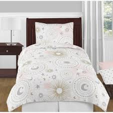 pottery barn kids twin duvet cover fantastic sweet jojo designs blush pink gold grey and white star moon