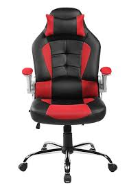 com merax high back ergonomic pu leather office chair racing style swivel chair computer desk lumbar support chair napping chair kitchen dining