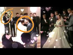 Exo #chanyeol everything you will do. Park Chanyeol Cute Reaction At Yoora Kissing Her Husband Exo Singing At Yoorawedding Exo Chanyeol Youtube