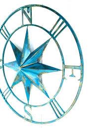 nautical metal wall art star decor chic ideas compass outdoor sculpture wal