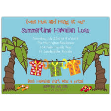 Hawaiian Luau Party Invitations Paperstyle