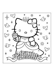 Hello kitty printable coloring pages. Free Printable Hello Kitty Coloring Pages Coloring Home