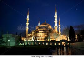 istanbul winter mosque stock photos istanbul winter mosque stock the blue mosque is seen at night as part of a photo essay on winter breaks