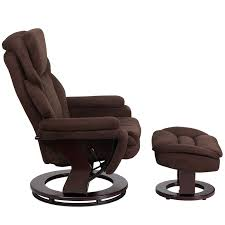 multi position recliner amp ottoman with swivel wood