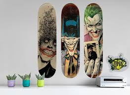the joker skateboard set wall decals