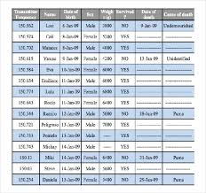 10 Free Ms Word Baby Weight Chart Template Download Free