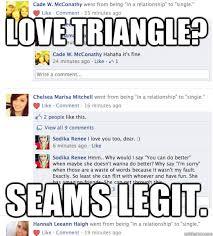Love triangle memes | quickmeme via Relatably.com