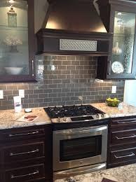 Espresso Kitchen Cabinet With Frosted Glass Door And Dark Kitchen