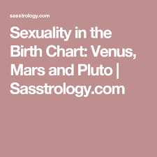 Sexuality In The Birth Chart Venus Mars And Pluto Birth