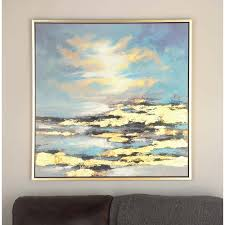 sunrise canvas wall art home depot