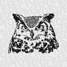 owl svg owl head svg owl dxf great