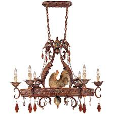 1 592 6 125 savoy house tracy porter clyde 6 light pot rack with relic rust w hand painted accents finish