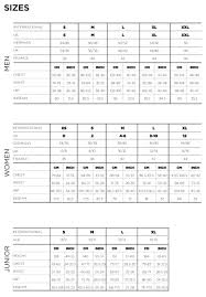 Sizing Chart Availability Z3n