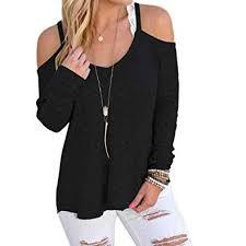 Amazon Com Super Bally Women Long Sleeve Strapless Tops