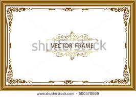 frame border design. Perfect Frame Gold Photo Frames With Corner Thailand Line Floral For Picture Vector Frame  Design Decoration Pattern Intended Frame Border Design G