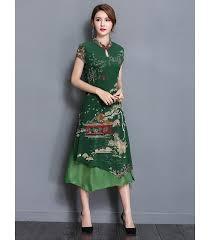 <b>Women</b>' <b>Vintage Embroidery</b> Chinese Traditional Cheongsam Dress ...