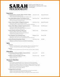 11 Pr Resume Example Prefix Chart