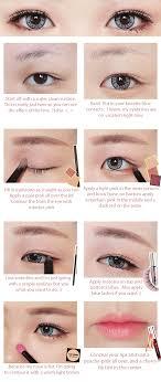 korean big eye circle lenses korean skin care makeup more in uniqso red velvet ice cream makeup tutorial with ick gaudy blue brown long wig