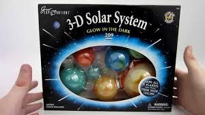 Solar System Bedroom Decor Glow In The Dark 3d Solar System Youtube
