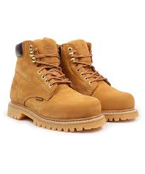 all gone tan panel leather work boot men