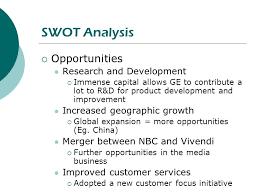 Business Swot Analysis Delectable Strategic Management Of GE Ppt Download