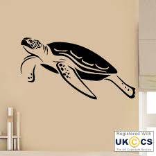 tortue de bain mer animal kids wall art