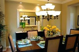 chandelier size for dining room height