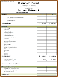 Business Income Statement Template Free Income Statement Template