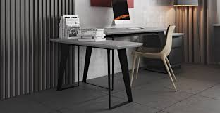 Image Glass Urbano Gray Concrete Modern Office Desk Return Sobe Furniture Urbano Gray Concrete Modern Office Desk Return Sobe Furniture
