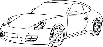 Voiture A Colorier Coloriages Tech Voiture Porsche Coloriage Dessin L