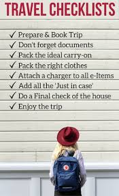 Detailed Travel Checklists Prep Pack Must Have Travel Accessories
