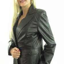 las black leather blazer