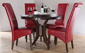 appealing red wooden dining chairs table 25 modern