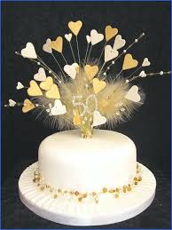 Golden Wedding Anniversary Cakes To Buy Cake Topper Birthday