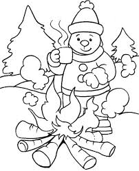 Small Picture Winter Coloring In Pages Preschool Winter Coloring Page Free