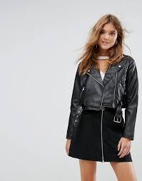 pull bear leather look biker jacket black faux leather moto jackets fall 2017