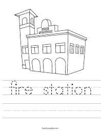 Small Picture fire station Worksheet Twisty Noodle