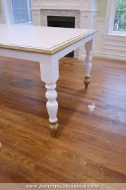 white and gold farmhouse table 4