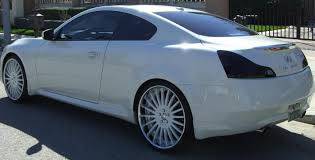 infiniti g37 white with black rims. just purchased ip g35 looking for white wheels wpolished lip pics infiniti g37 with black rims h