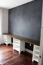 wall desks home office. kids area chalkboard wall u0026 desks diy long double desk icing onu2026 home office l