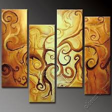handmade handmade oil painting on canvas gold tree of life modern fashion wall art home decor 4 panel wall art sets wholesale in painting calligraphy from  on canvas wall art tree of life with handmade handmade oil painting on canvas gold tree of life modern