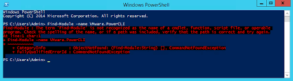 Powershell Windows Installing Powercli 6 5 X On Windows Server 2012 R2 After Find