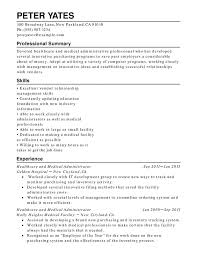 Medical Resume Healthcare Medical Chronological Resume Samples Examples